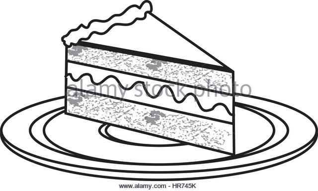 640x385 Piece Of Cake Clipart Black And White