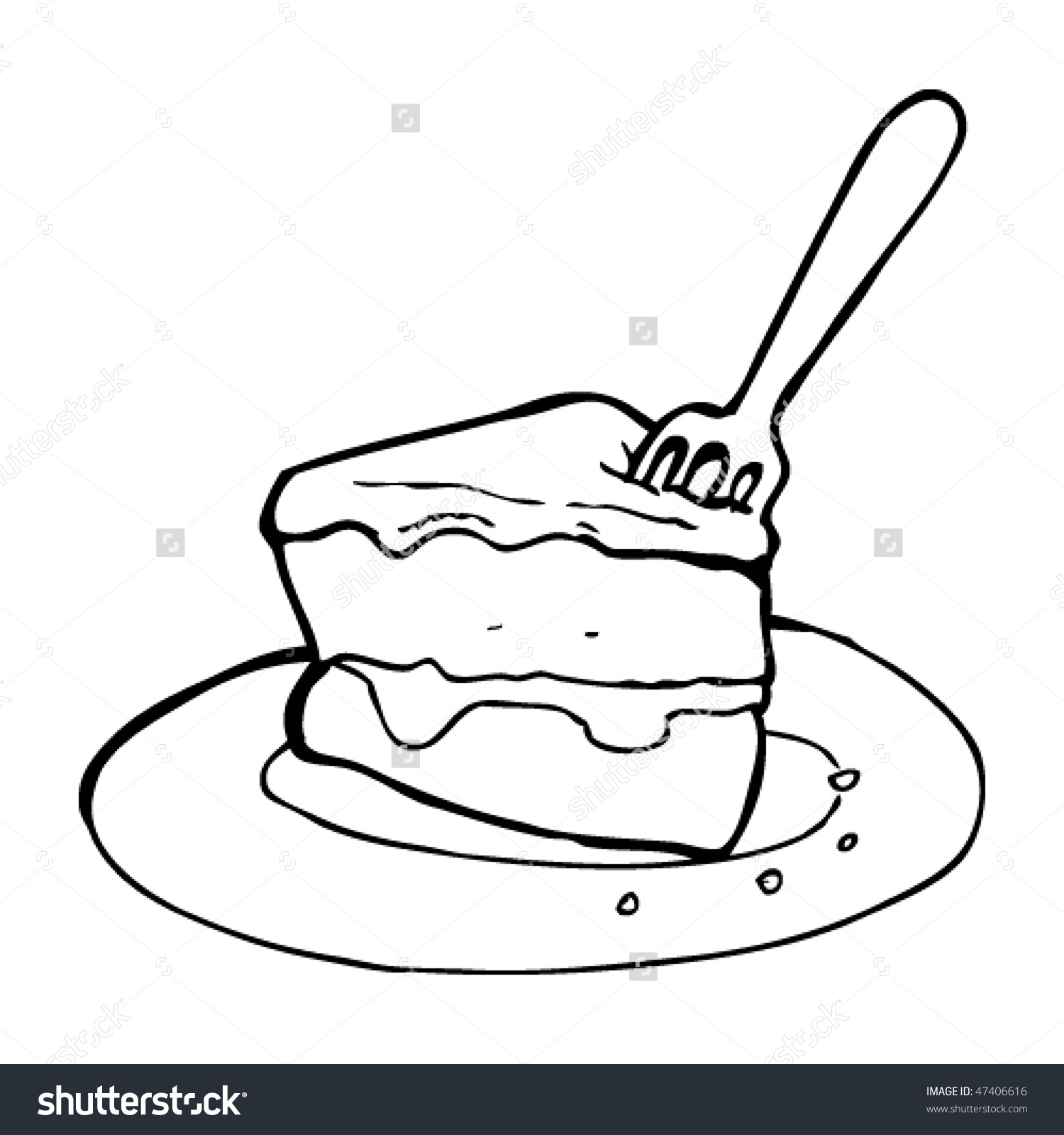 1500x1600 Slice Of Cake Drawing Drawing Slice Cake Stock Vector 47406616