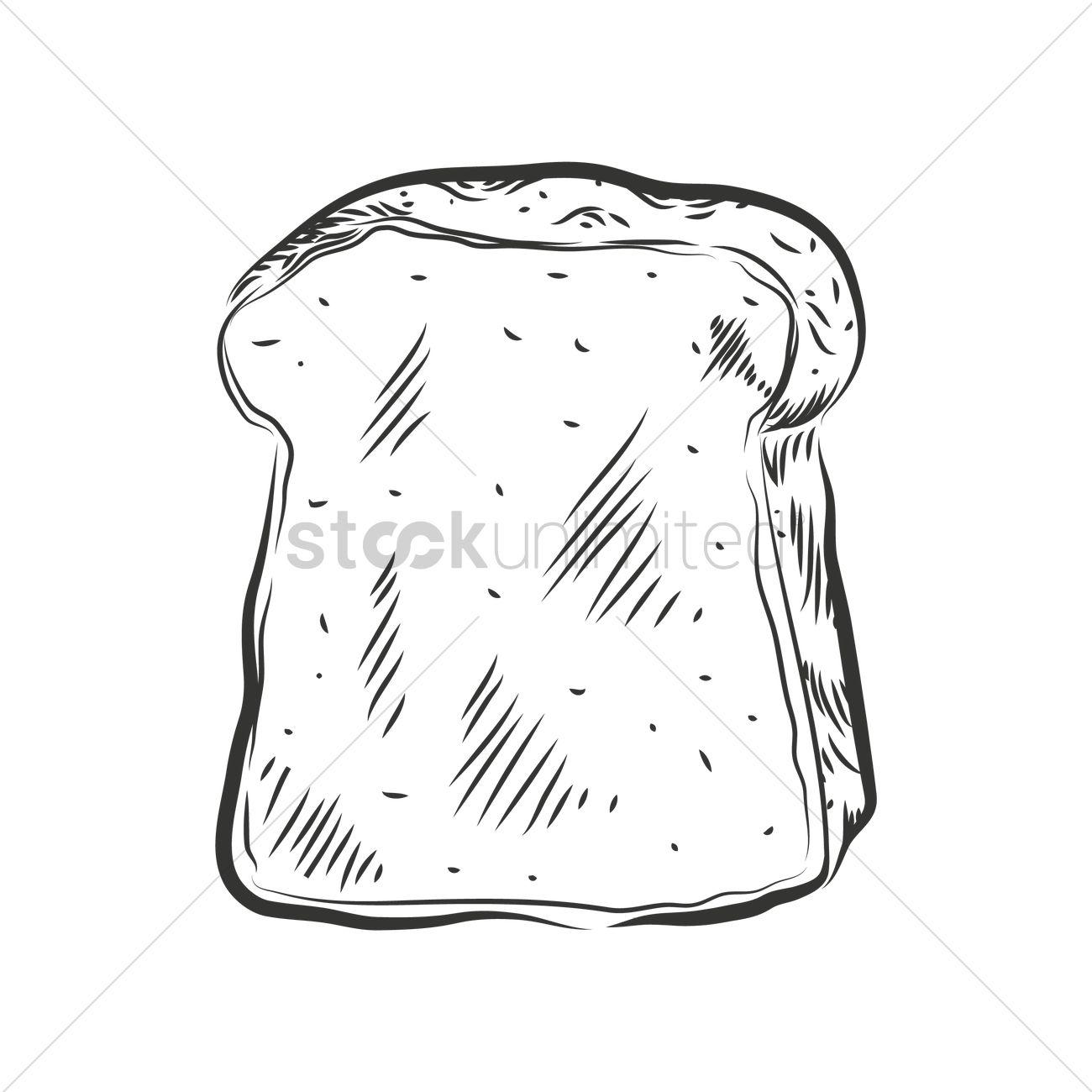 1300x1300 Bread Slice Vector Image