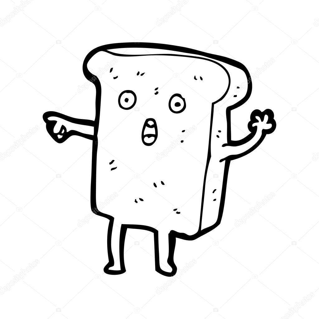 1024x1024 Shocked Slice Of Bread Cartoon Stock Vector Lineartestpilot