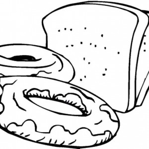300x300 Slices Of Bread And Sweets Coloring Pages Best Place To Color