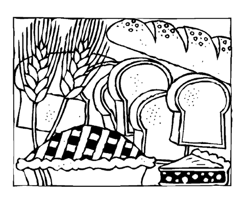 480x393 Slices Of Bread Coloring Page Free Printable Coloring Pages