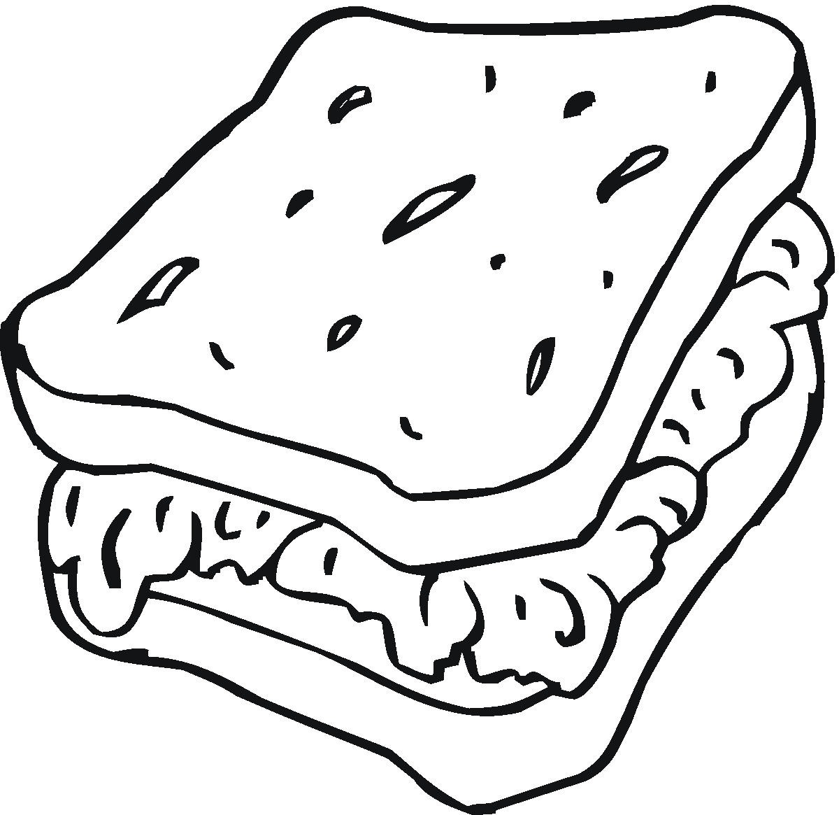 1200x1165 Toast Coloring Pages
