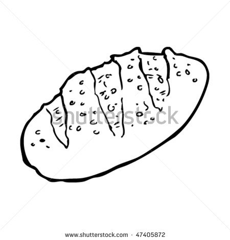 450x470 Drawing Of A Loaf Of Bread