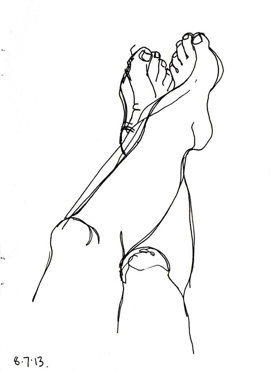 940x1264 Drawing Of Legs And A Slice Of Bread