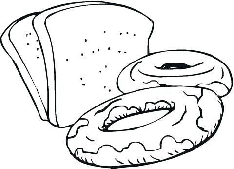 480x346 Bread Coloring Pages Croissant Bread Food Coloring Pages Bread