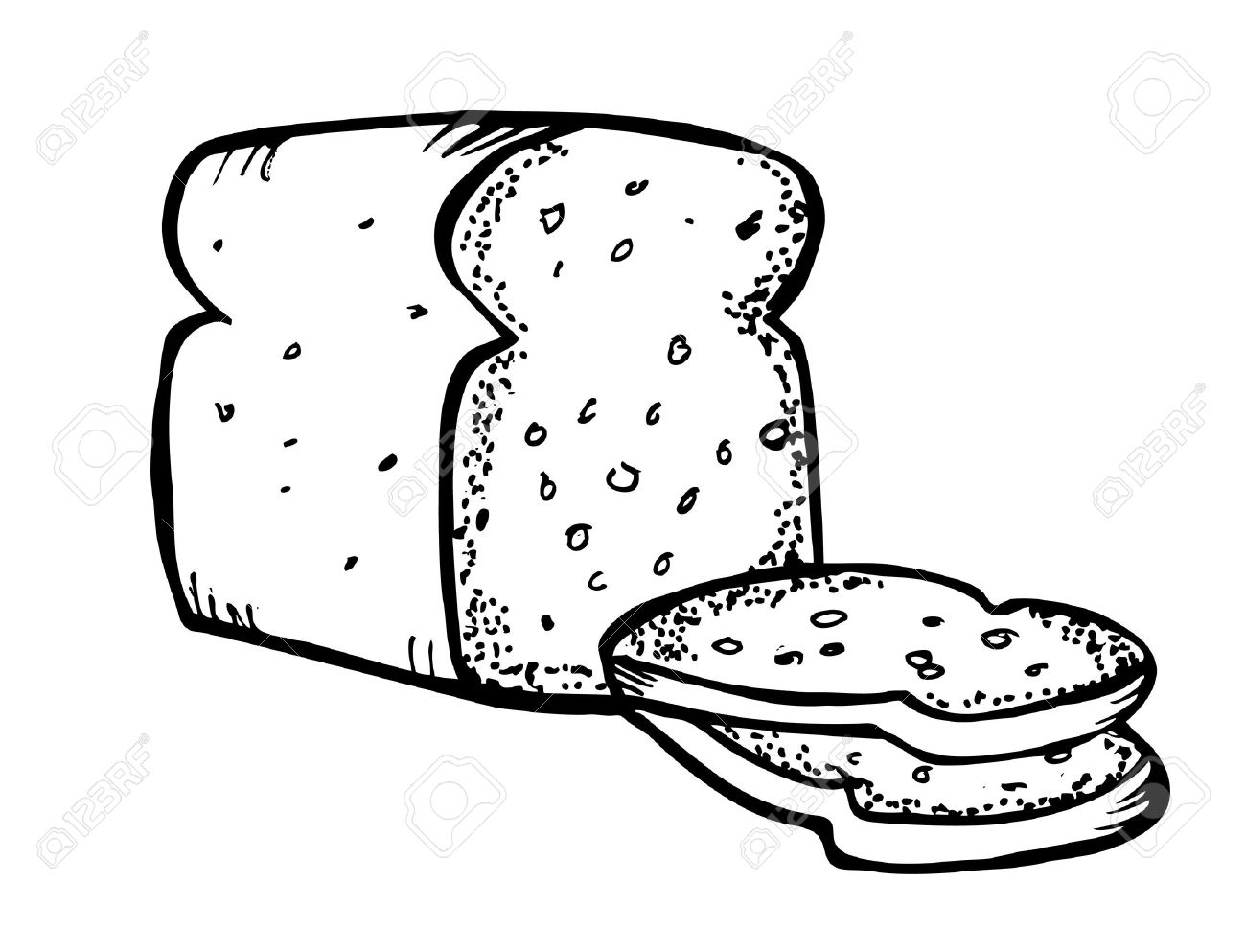 1300x993 Bread Clipart Outline