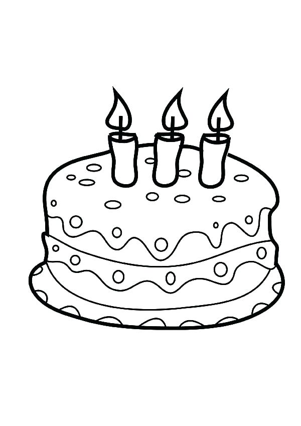 600x849 New Birthday Cake Coloring Page Printable Image Best Colouring