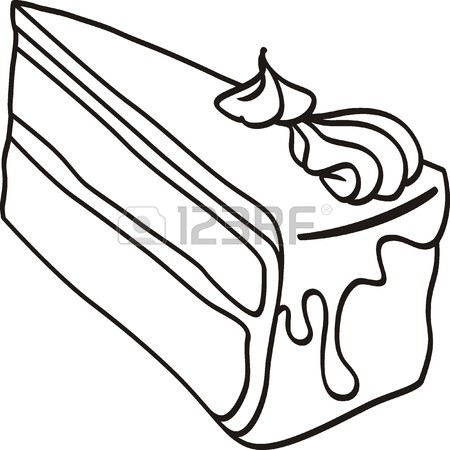 450x450 Piece Of Cake Doodle Royalty Free Cliparts, Vectors, And Stock