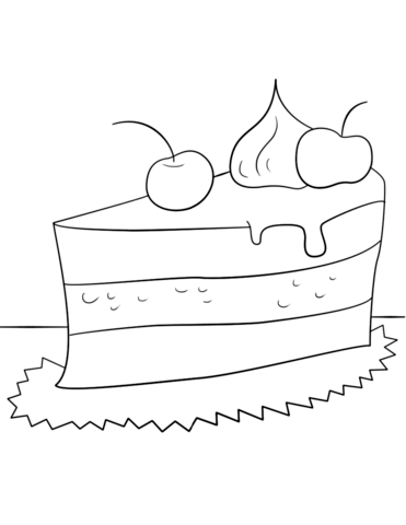 371x480 Piece Of Cake Coloring Page Free Printable Coloring Pages