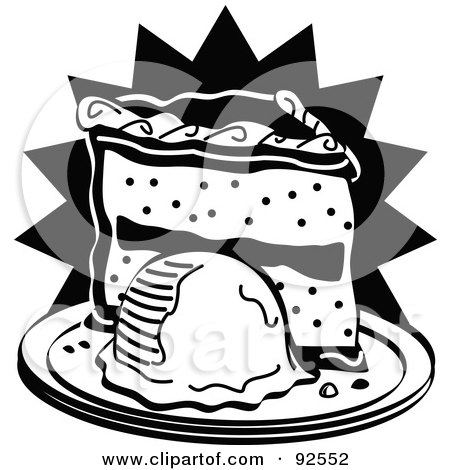 450x470 Royalty Free (Rf) Clipart Illustration Of A Black And White Slice