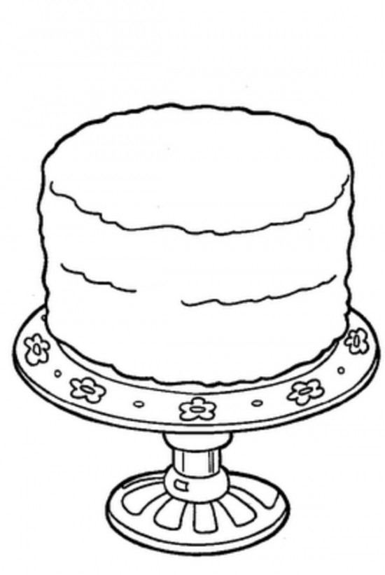 550x821 Birthday Cake Coloring Sheet Slice Of Pages Cookie