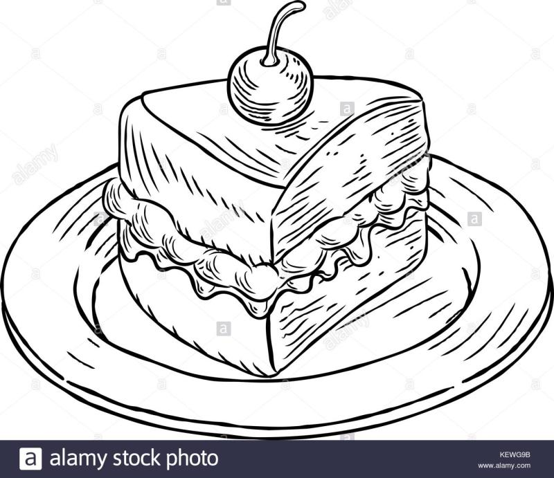 800x691 Cake Slice Clipart Black And White