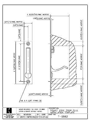300x387 Recessed Pull For Sliding Pocket Door