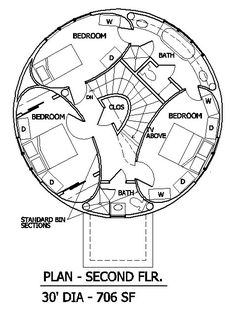 236x310 Round House Plans Round House With Elliptical Rooms Floor Plan