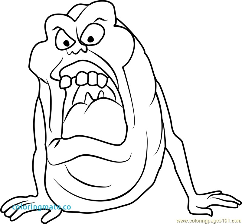 800x743 Ghostbusters Coloring Pages Inspirational Slimer Coloring Page