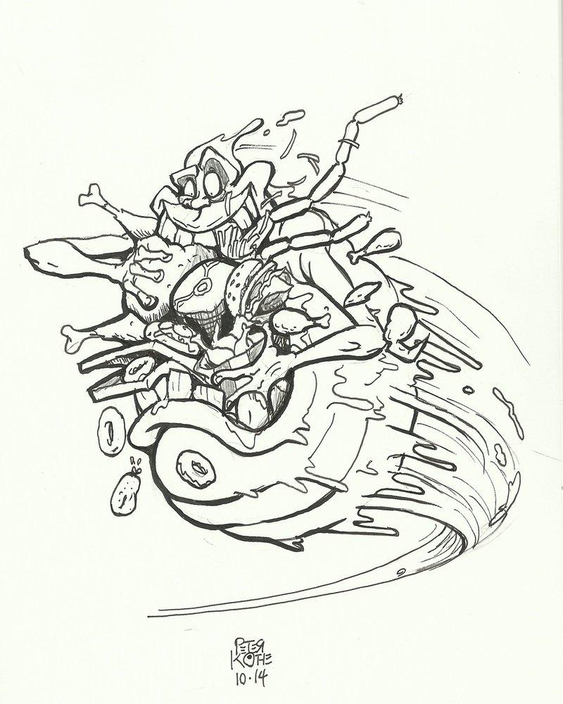 800x1000 Inktober Slimer! By Pk Artist