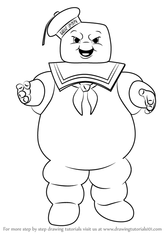 567x800 Learn How To Draw Stay Puft Marshmallow Man From Ghostbusters