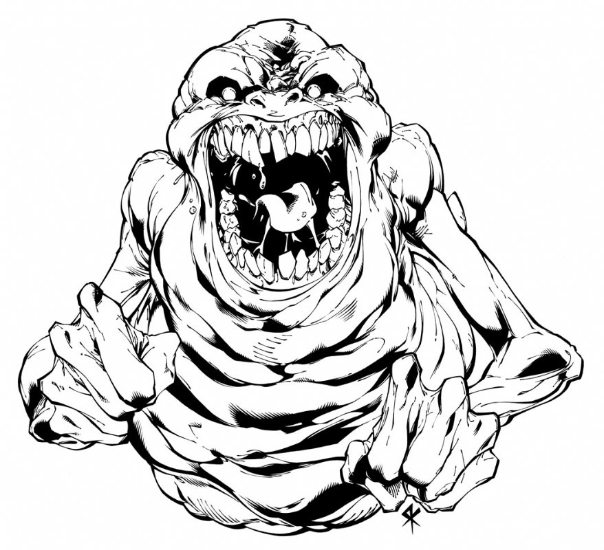 878x800 Slimer Ghostbusters Promo Art, In Serge Lapointe's Ghostbusters