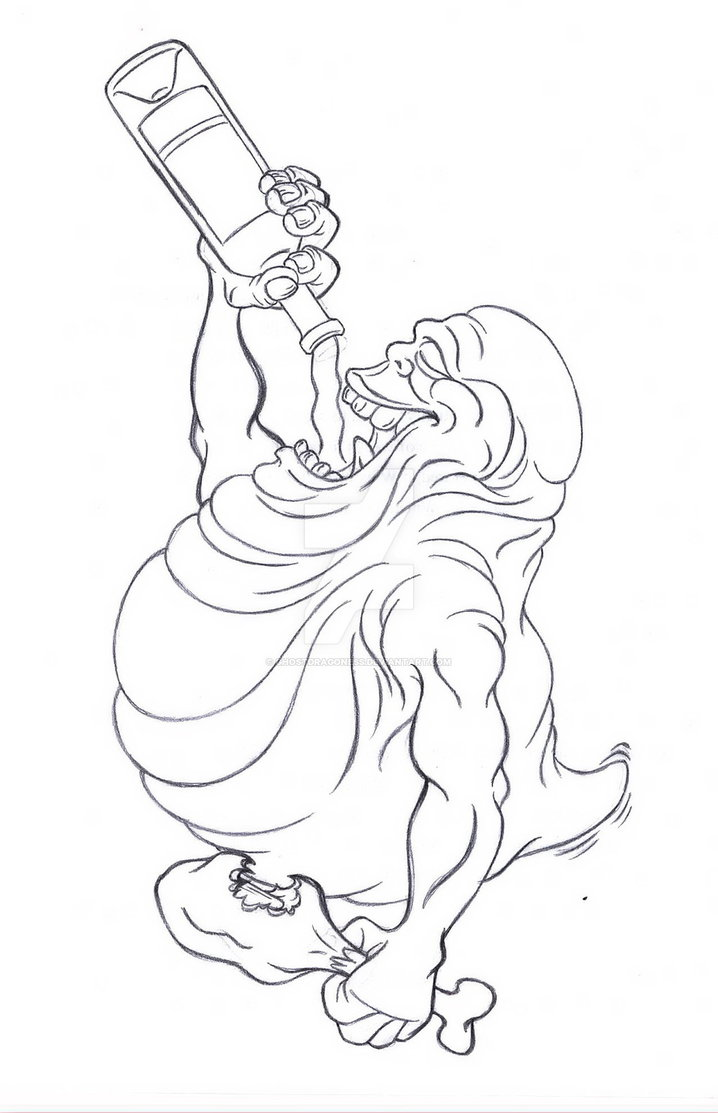 718x1113 Slimer Sketch By Ghostdragoness