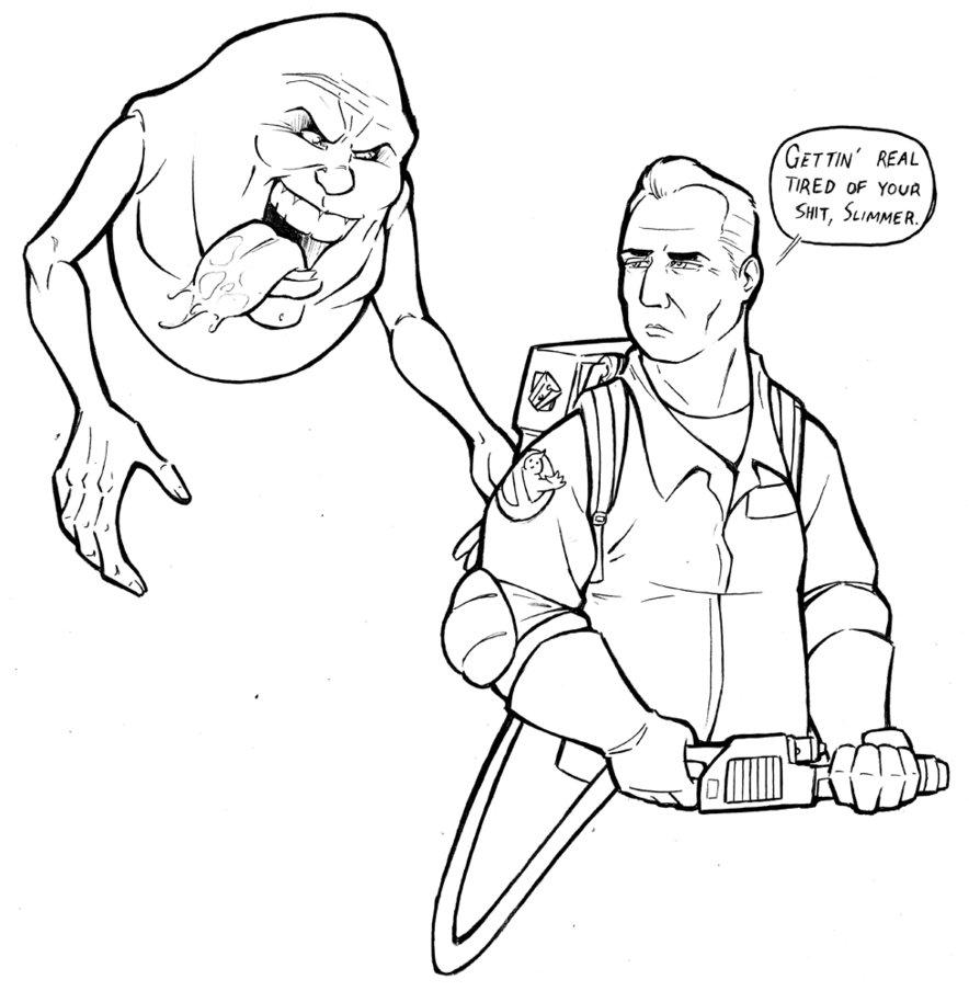 884x904 Cincy Comicon Peter Venkman And Slimer By Travisthegeek