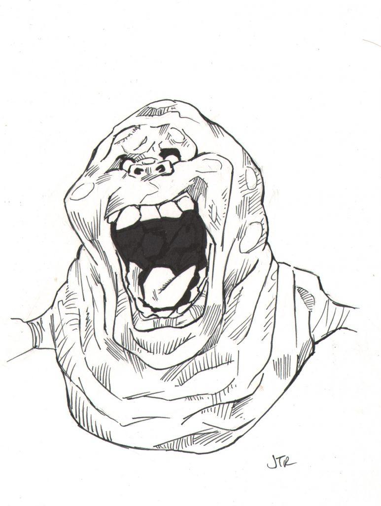 773x1024 Ghostbuster Egon Spengler And Slimer The Art Of James Richardson
