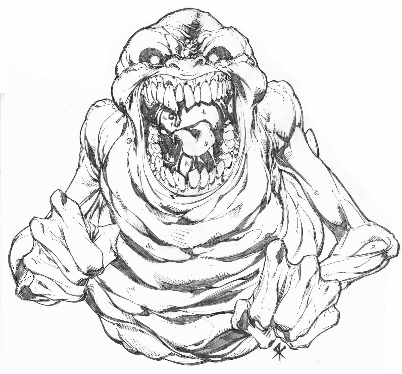 1600x1486 Ghostbusters' Slimer Steve Kurth's Blog Of Comic Bookery