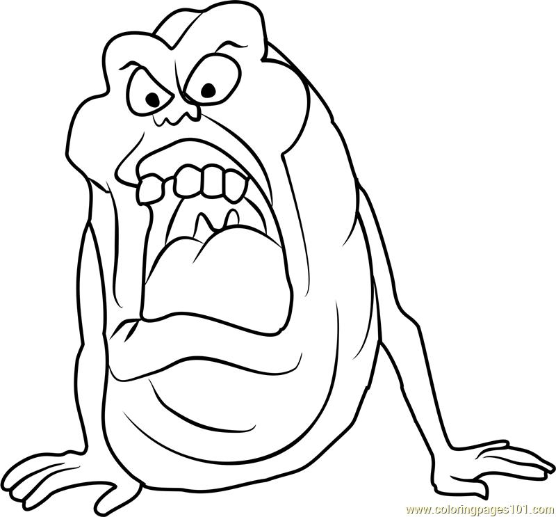 800x743 Slimer Coloring Page