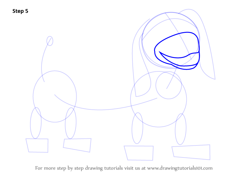 845x598 Learn How To Draw Slinky Dog From Toy Story (Toy Story) Step By