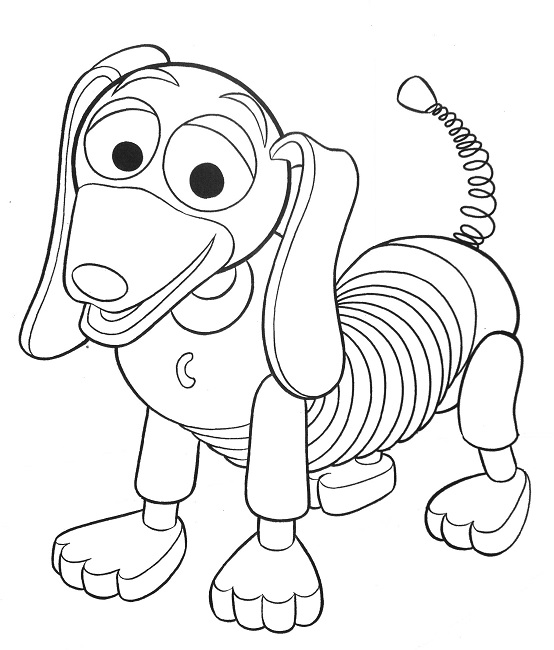 554x650 Slinky Toy Story Coloring Pages Disney Slinky Toy