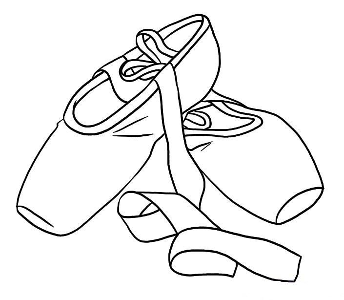 705x614 Ballet Shoes Colouring Pages Coloring Page Teaching Dance