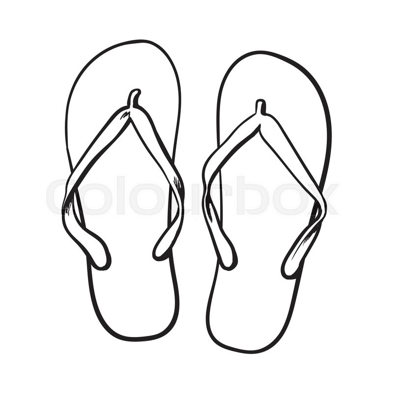 800x800 Pair Of Flip Flops, Summer Time Vacation Attribute, Slippers