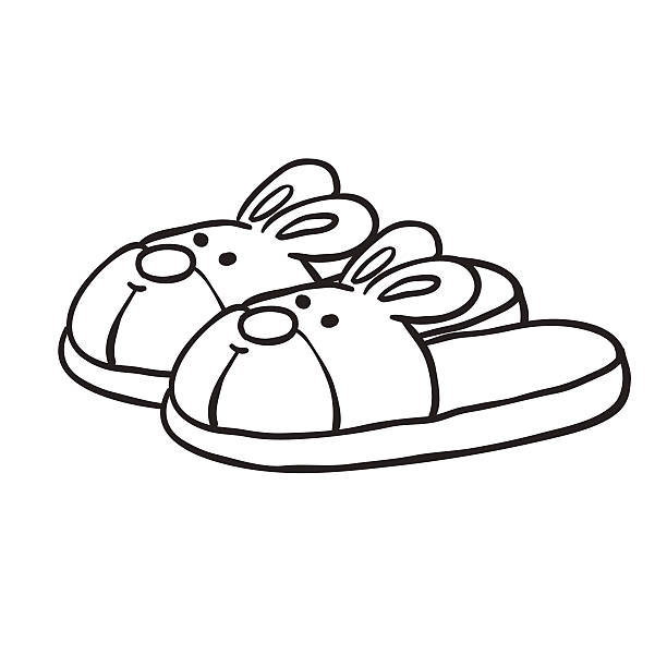 612x612 Slipper Clipart Black And White 2 Clipart Station