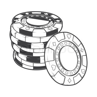 320x320 Poker Chips Drawing