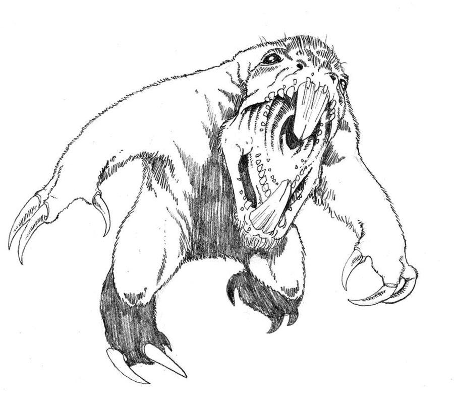 900x826 Sloth By Gogmangog