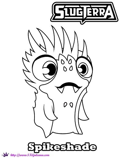 400x517 Free Coloring Page Of Spikeshade From Slugterra SKGaleana