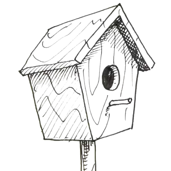 722x720 How To Draw A Bird Box Real Easy Shoo Rayner Author