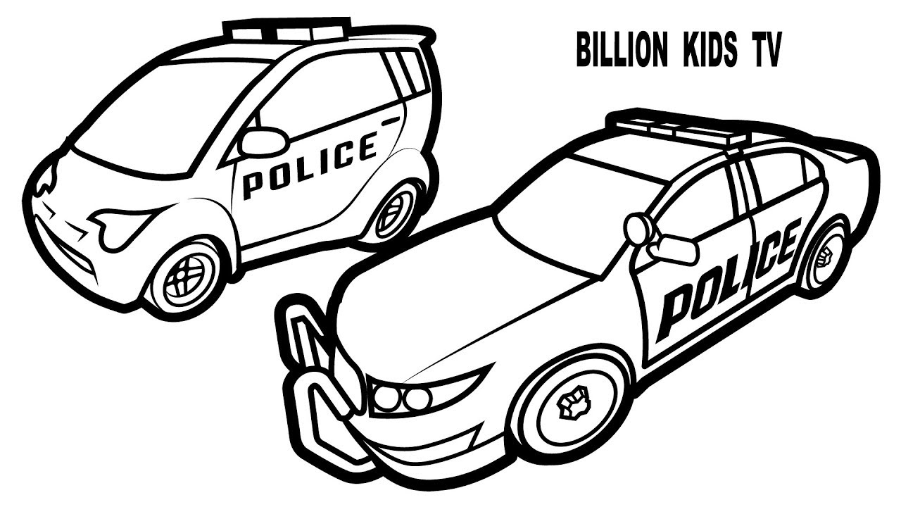 1280x720 Police Car Coloring Pages And Small Police Car Coloring Pages