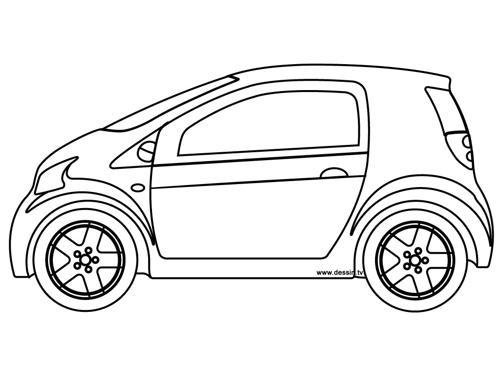 1024x768 Coloring Small Car
