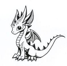 Small Dragon Drawing