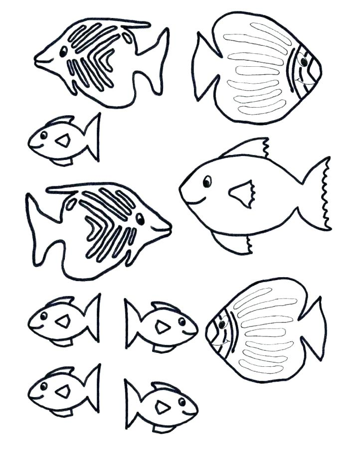 728x943 Small Fish Coloring Pages Download