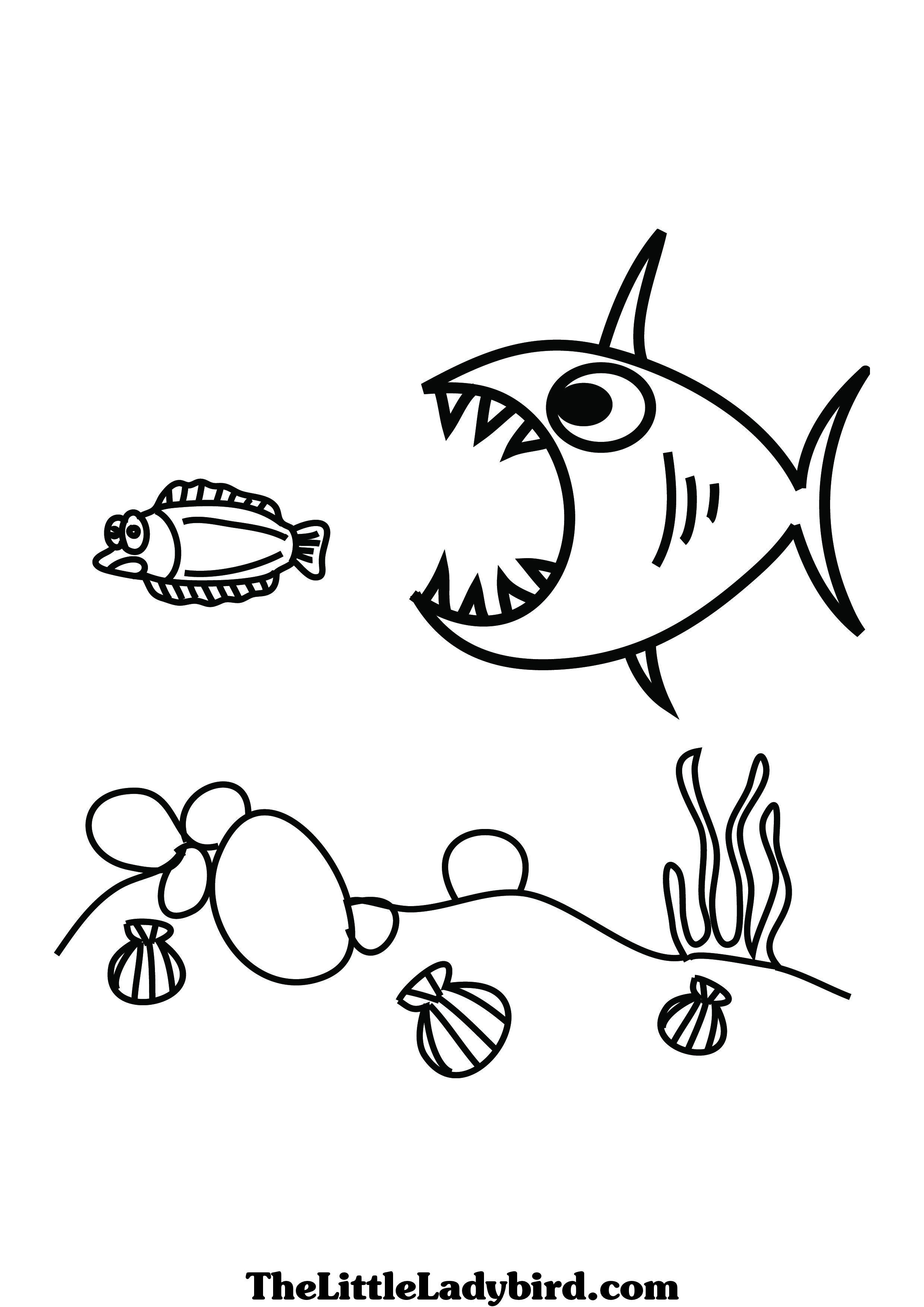 big picture coloring pages | Small Fish Drawing at GetDrawings.com | Free for personal ...