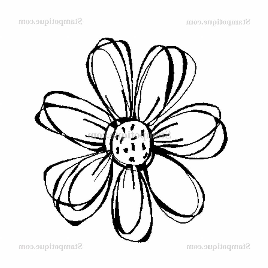 It is a graphic of Légend Small Flower Drawing
