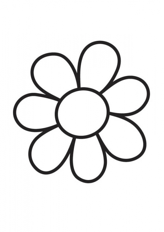 531x750 Small Flower Coloring Pages Simple Small Flower Coloring Pages