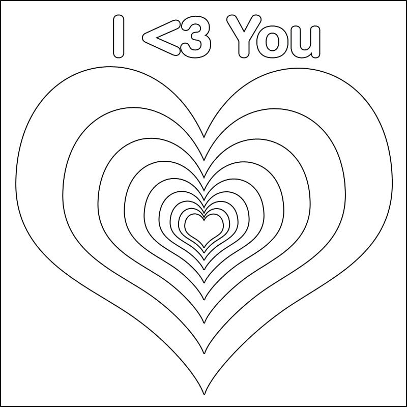 800x800 Love Heart Coloring Pages Small Heart Coloring Pages Small Hearts
