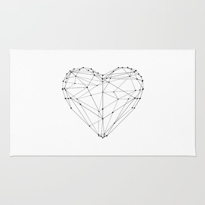 700x700 Love Heart Geometric Polygon Drawing Vector Illustration