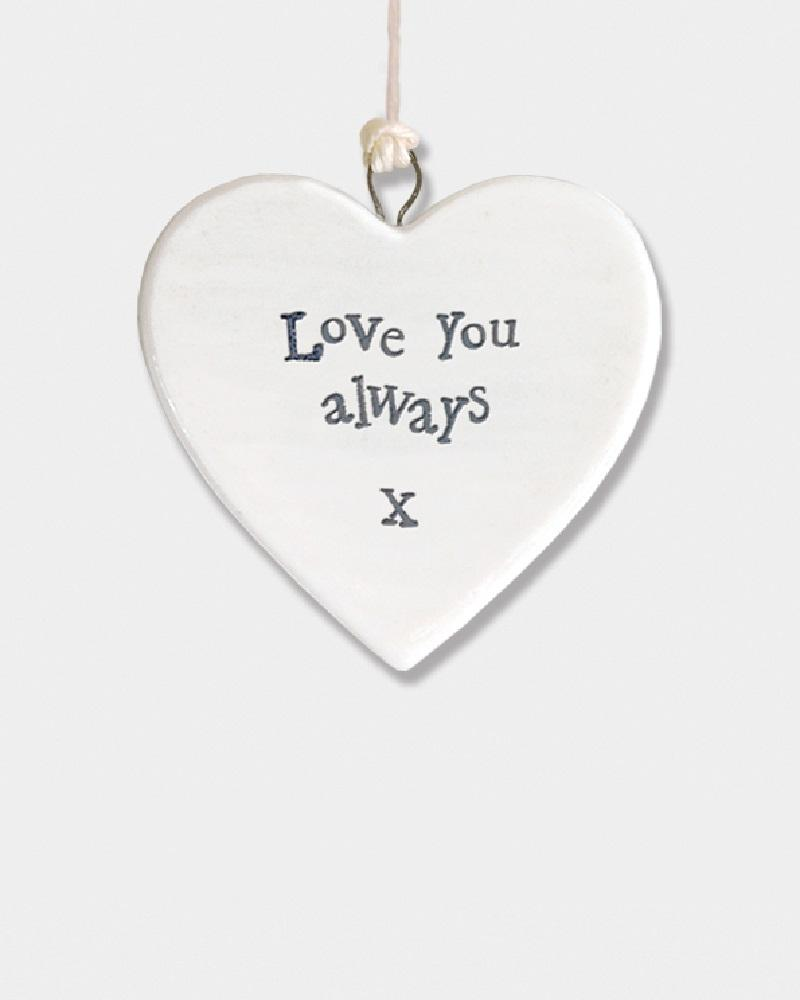 800x1000 Love You Always Porcelain Small Hanging Heart Pink Poodle Boutique