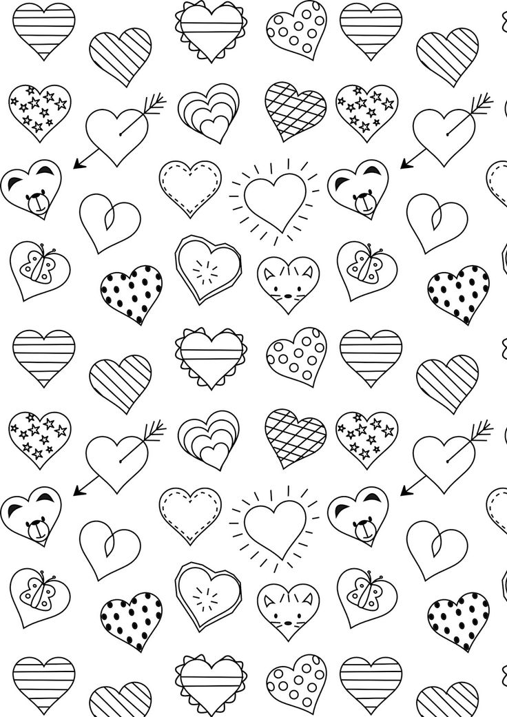 736x1041 Small Heart Coloring Pages