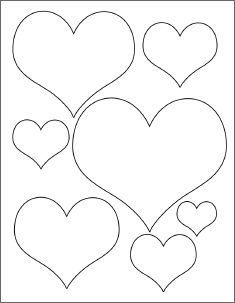 235x303 Small Heart Template