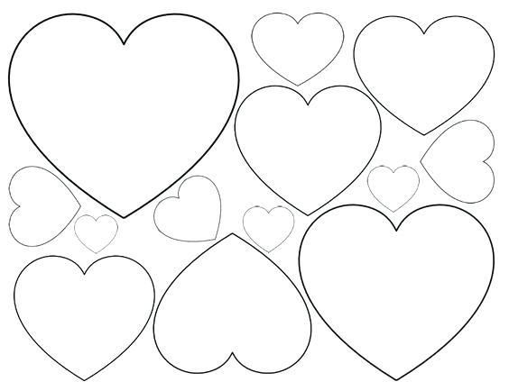 564x434 Small Love Heart Colouring Pages Coloring Page For Kids